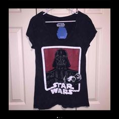 Rare Star Wars Urban Outfitters XL NeW New with tags, extremely rare urban outfitters Star Wars v neck shirt size XL. Comes from a smoke free - pet free home. Urban Outfitters Tops Tees - Short Sleeve