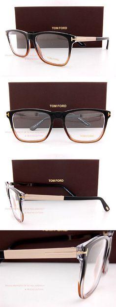 1ca4d7c89da Eyeglass Frames  Brand New Tom Ford Eyeglass Frames 5351 050 Black Brown  Size 54Mm