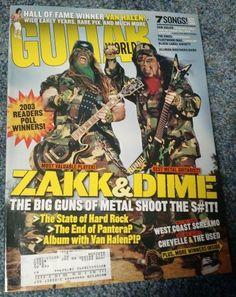 Ivanhoe162 on Ecrater-The Great Ebay Alternative: Guitar World Magazine March 2003 Zakk Wylde Dimeba...