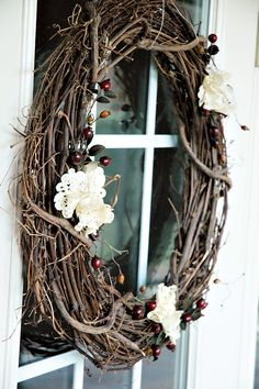 Vintage grapevine wreath