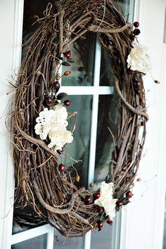 Vintage grapevine wreath