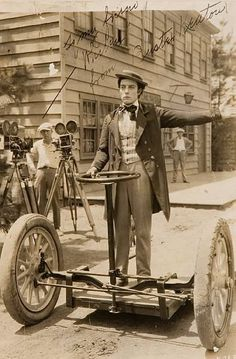Buster Keaton rides the first Segway (wayyy back when) such an innovator..:)