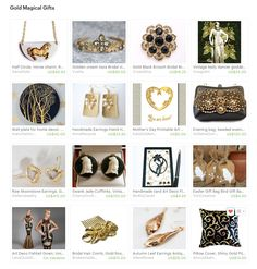 Gold Magical Gifts. Curator: Elena Doniy from www.etsy.com/shop/Vualia #etsy #etsytreasury #handmade #gifts #floral #flower #photography #print #wedding #jewelry #shabbychic #boho #printableart #homedecor #bohohair #bohochic #treasury #giftideas #love #romantic #gold #goldandblack #fashionaccessories #walldecor #opulence #earrings #giftinspirations