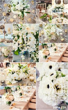 Whites, green and gold - #Nantucket #wedding at Nantucket Golf Club by Zofia & Co. Photography