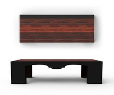 Klassik Coffee Table: modern, stained woods and simple forms with a sneaky baroque silhouette detail on each side of the table.  James Owen Design & FDM  #designer #technique #vision #visual #photoreal #design #industrialdesign  #visual #designlife  #furnituredesign #furniture #designer #technique  #vision #visual #photoreal #CAD #visualization #minimal #minimalism
