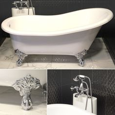 The traditional free standing baths collection from Victoria + Albert. Superbly designed Shropshire slipper tub – authentic Victorian style for your home. Made from the Volcanic Limestone. #bathtub #bath #blackandwhite #victorian #luxury #bathroom #lifestyle #interiordesign #dreamhouse #design #interiors #homedecor #modernliving #bathroomdesign #victoriaalbert #modernbathroom #modernart #waterart #decorate #homedesign #luxuryhomes #designinspiration #interiorandhome #homestyling