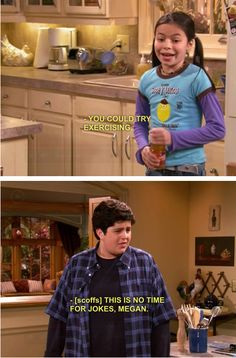 "Exercising is a joke: | The 28 Most Important Lessons We Learned From ""Drake And Josh"""