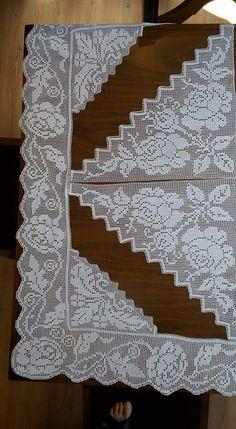 Crochet Art, Crochet Flowers, Crochet Borders, Crochet Patterns, Fillet Crochet, Decor Crafts, Cross Stitch, Embroidery, Knitting