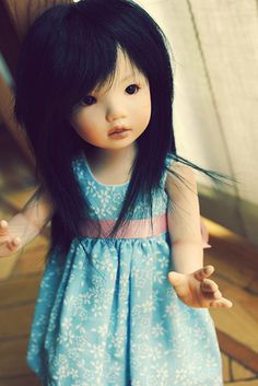 Leah, by Dianna Effner. Effner has been making dolls and designing for the collector market for over 30 years.