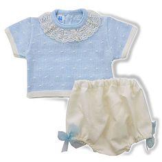 81fda1a37 Conjunto jersey de perle m c y short de piqué XX Ropa Recien Nacido