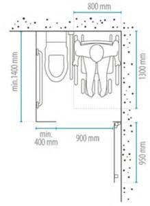 Les plans d 39 une salle de bains am nag e pour un fauteuil - Dimension wc handicape ...