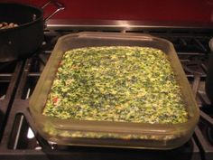 """gluten-free high protein (for breakfast) """"egg white spinach bake"""", and if you can make it without spinach i might eat it with you!"""