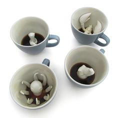 These are a little creepy, but kinda cool at the same time - Creature Cups