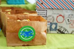 Cut the top off a paper sack for pre-portioned snacks Blog - Spaceships and Laser Beams