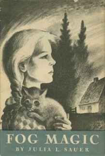 Lynd Ward illustrated Fog Magic by Julia L. Sauer, Newbery Honor, story set in Nova Scotia. Old Children's Books, Got Books, Vintage Children's Books, Books To Read, Award Winning Books, Reading Rainbow, Magic Book, Popular Books, Chapter Books