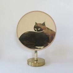 Vintage Brass Cat Lamp - Hollywood Regency Brass Light