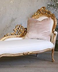 ooooh, i want!!! Vintage Shabby Chic Gilt Rococo French Style Chaise