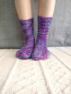 Hand knit women's colorful socks Colorful Socks, Hand Knitting, Trending Outfits, Unique Jewelry, Handmade Gifts, Etsy, Clothes, Vintage, Fashion