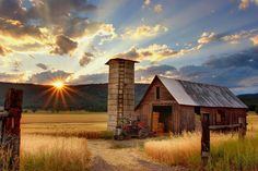 Old Barn with Sunset   Cool old barn at sunset! Timothy Eberly took this photo…