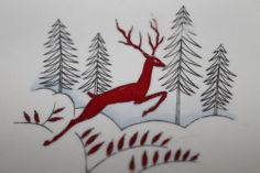 """""""The Red Stag"""", Crown Devon Stockholm China"""