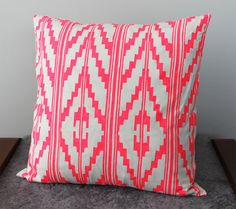Hey, I found this really awesome Etsy listing at http://www.etsy.com/listing/157303988/hand-printed-southwest-pillow-in-hot