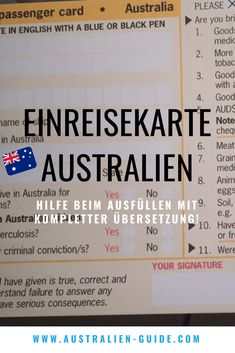 Entry card for Australia - help with filling out - Beste Reisetipps 2019 Great Barrier Reef, Travel Advice, Travel Tips, Work And Travel Australien, China People, Brisbane Queensland, Health Promotion, Be A Nice Human, China Travel