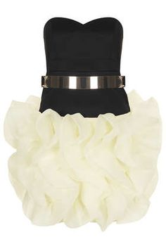 **Ruffle Skirt Party Dress by Rare
