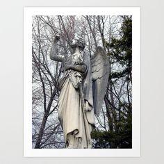 Stone Angel Art Print by Angelandspot - $14.56