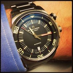 @mauricelacroix pontos s diver on steel! One of the coolest @baselworld2013 watches! Report on www.fratellowatches.com follows soon!