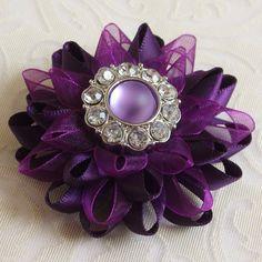 Purple Pin - Purple Corsage- Pin Purple Brooch by PetalPerceptions