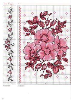 Diseño floral en punto de cruz.