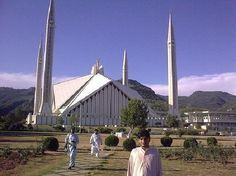 Faisal-mosque-Islamabad. Pakistani Culture, Indus Valley Civilization, Burj Khalifa, Countries Of The World, Mosque, Greek, Around The Worlds, Country, Architecture