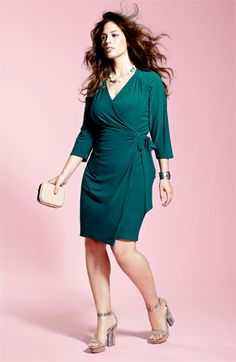 Suzi Chin for Maggy Boutique Jersey Faux Wrap Dress (Plus) | Nordstrom