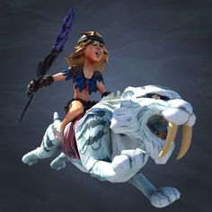 Please welcome the first representative of the fairer sex among Caveman – the Saber-tooth Rider. She is as fast as the wind, as quiet as the night and as agile as a ferret. Thanks to her skills, she can attack enemies from any direction with a spear as sharp as a tiger's claw.