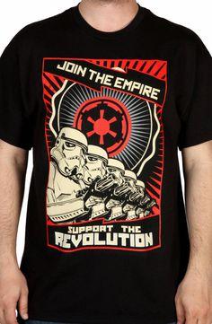 Support The Revolution Shirt: Star Wars, Storm Trooper Mens T-shirt Cool Tees, Cool T Shirts, Boba Fett T Shirt, Movie Shirts, Star Wars Tshirt, Revolution, Shirt Designs, Geek Clothing, 80s Tees