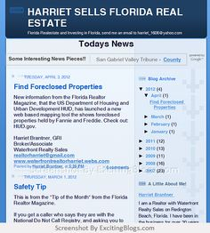 HARRIET SELLS FLORIDA REAL ESTATE - Click to visit blog:  http://1.33x.us/HzplKd