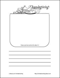 Thanksgiving Printables: Thanksgiving Draw and Write