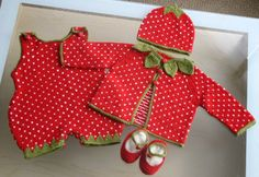adorable knit strawberry