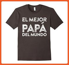 Mens El Mejor Papa Del Mundo Camisa Del Regalo Del Dia Del Padre Large Asphalt - Relatives and family shirts (*Partner-Link)
