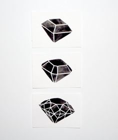 Custom Listing for Maria - ACEO - Original Watercolor - Geometric Diamond Set via Etsy