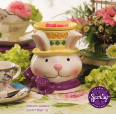 Scentsy 2015 February Warmer of the Month - Easter Bunny....contact me if you would like to pre-order this burner...I feel like it will go fast!