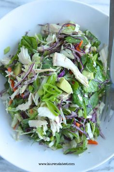 Crunchy Thai Chicken Salad | laurenslatest.com #salad
