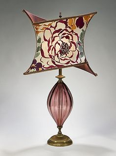 Mig and Tig Boutique - Chic Purple Glass Lamp