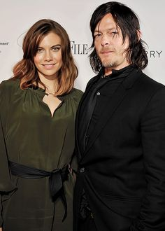 Lauren Cohan and Norman Reedus attend Capitol File's WHCD Weekend Welcome Reception at The British Embassy on April 24, 2015 in Washington, DC.