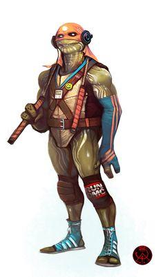 Michelangelo TMNT fanart/redesign by Manuhell // CG Hub Teenage Ninja, Teenage Mutant Ninja Turtles, Michelangelo, Comic Books Art, Comic Art, Book Art, Gi Joe, Comic Character, Character Design