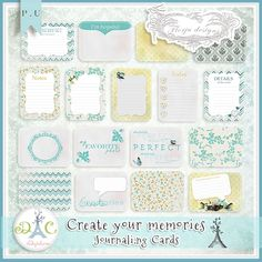 journal cards 4x3 and 3x4 perfect for your project life (digital or not)
