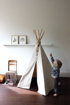 MINI 5 ft Fold - Away Canvas Teepee via Etsy.