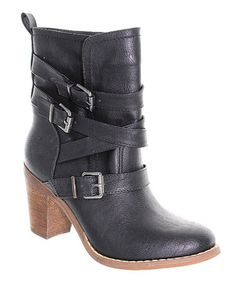 Another great find on #zulily! Black Jacky Buckle Boot by Fashion Focus #zulilyfinds
