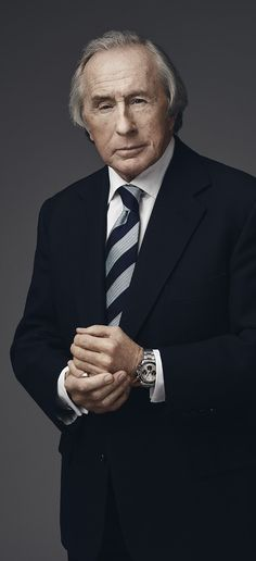 Sir Jackie Stewart, one of the greatest Formula 1 drivers, wearing the Rolex Daytona he was given in Monaco in the late 1960s for one of his three victories in that legendary race.