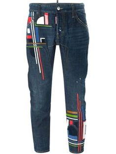 'Icon' cropped jeans